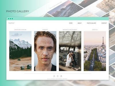 Photo Gallery for UI Design Concept