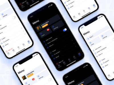 TradingView Menu screen (iOS) figma tradingview fintech uxui ux ios mobile design ui