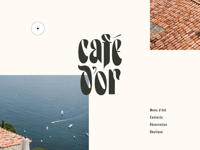 Café d'or cafe restaurant logo designer logotype visual identity brand identity graphic design identity lettering branding logo typography type
