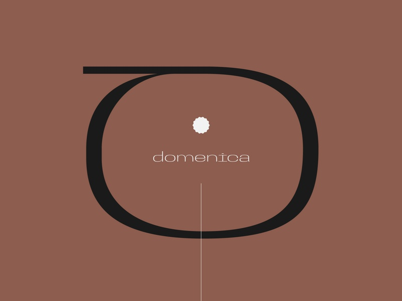 Domenica display font specimen typeface symbol graphic design lettering branding logo type typography