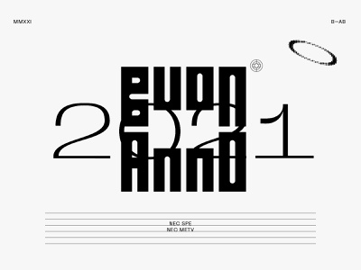 Buon Anno 2021 design type lettering typography