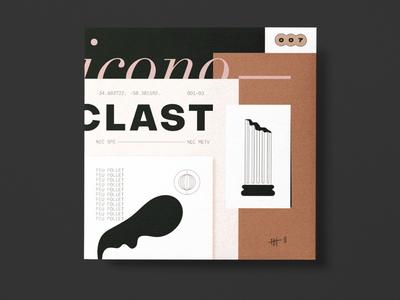 Iconoclast branding type illustration vector graphic design symbol lettering identity iconography icon typography logo