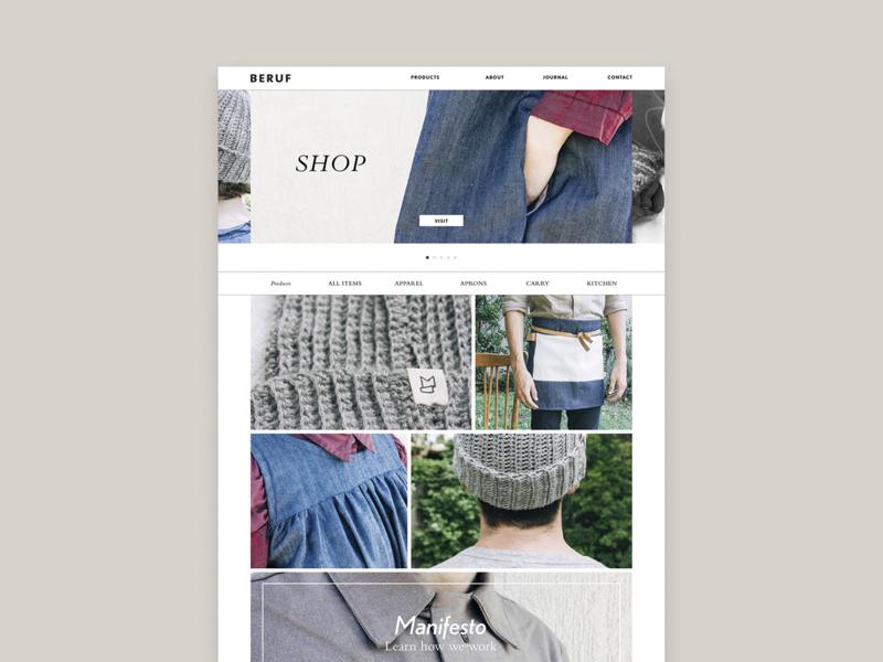 Beruf shop retail home page web site web design beruf page landing home website web homepage