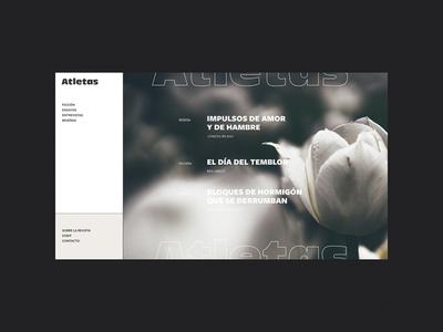 Atletas logo magazine online visual design concept web design web visual identity brand identity branding