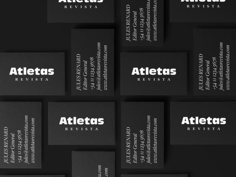 Atletas Revista Business Cards brand identity carte de visite business card stationery design logo identity branding