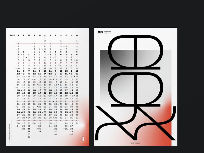 2020 Mailer poster typogaphy vector branding calendar design calendar 2020 mailer