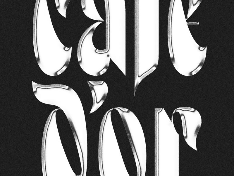 Café D'Or, v1.0 letters lettering illustration vector type typography