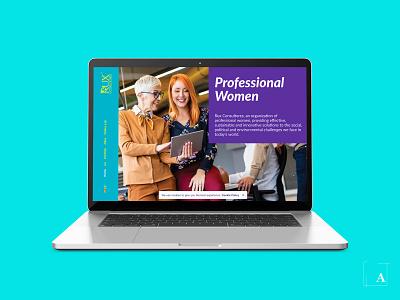 Rux Consultores Website website brand identity ux ui vector design graphic design