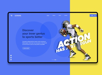 Action Landing Page