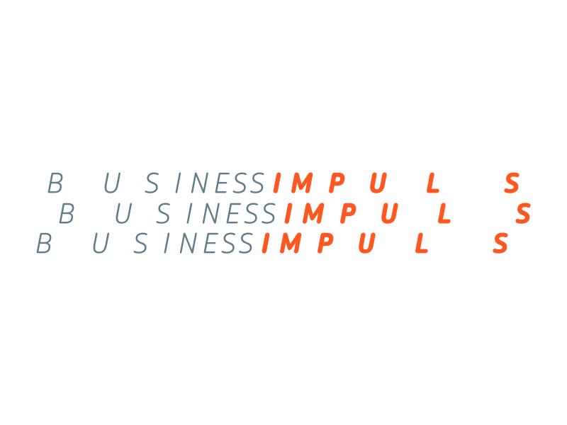 """Business Impuls"" Switzerland business entrepreneur impulse logo"