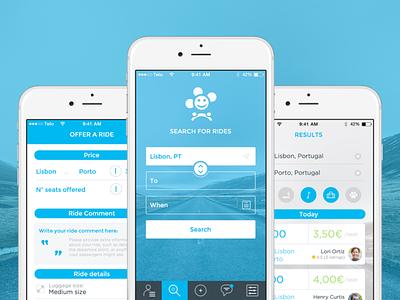 Blablacar App ux carpooling iphone design ui