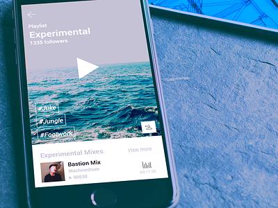 Playlist view project satta ux ui design music app