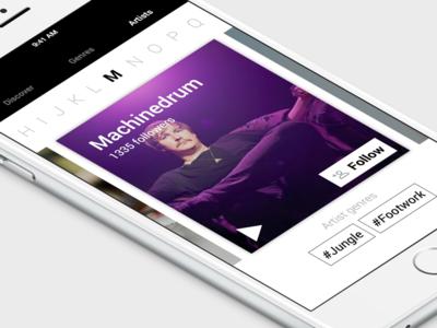 Artists navigation artists iphone music app