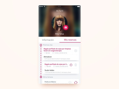 Reservations timeline calendar reservations ui ux design app ios appointments
