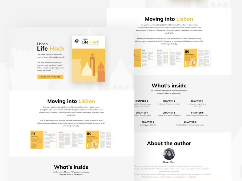 Lisbon Life Hack   Website lisbon design webflow website landingpage ebook ux ui webdesign