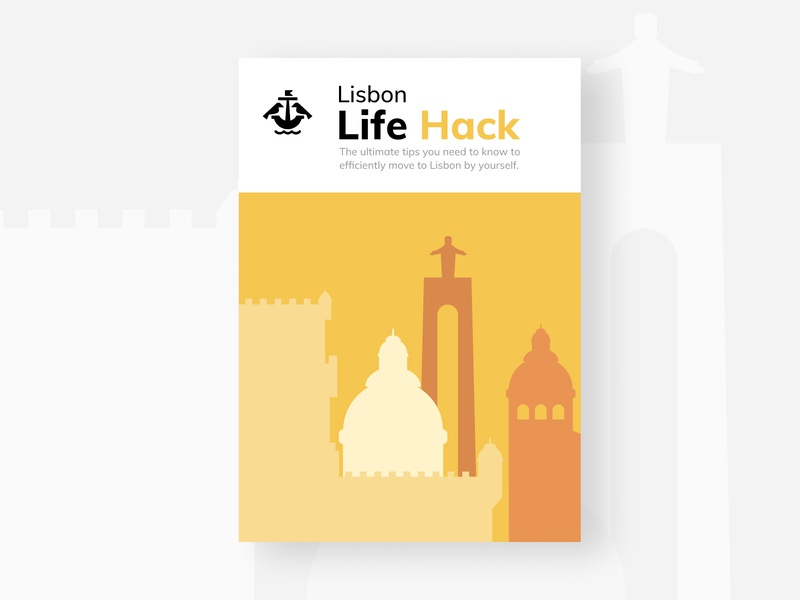 Lisbon Life hack Ebook uiux ui webflow design ebook website webdesign