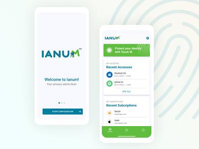 Ianum App iphone ux ios ui app design