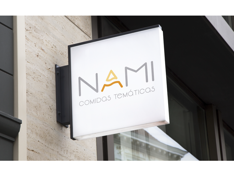 NAMI delivery food logo branding typography vector