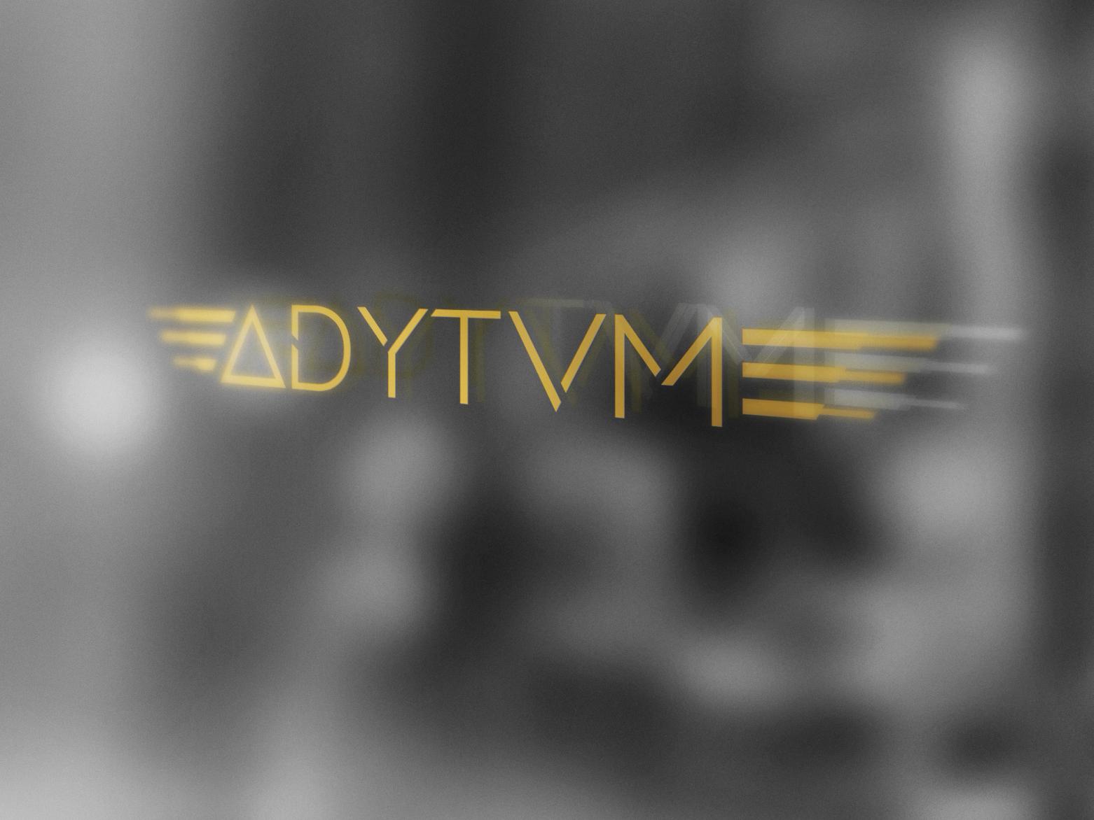 ADYTVM deluxe luxury brand brand futuristic logo branding typography vector