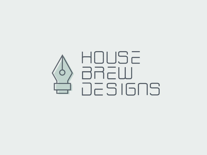 House Brew Designs Logo typography vector logo house brew designs