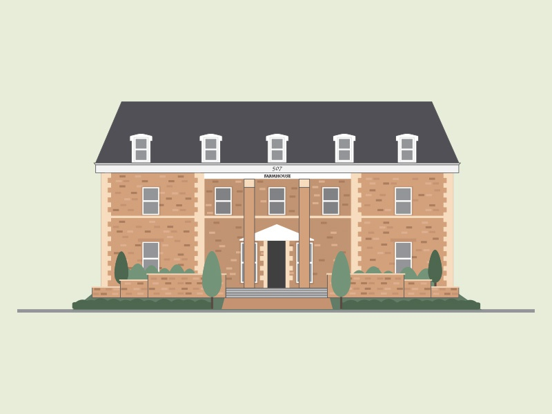 Mizzou Farmhouse illustration mizzou farmhouse