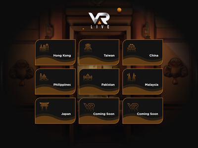 VAR LIVE | VR Gaming Studio - Website Design ui icon ux design illustration website design web design website user interface design user experience userinterface virtual reality vr uidesign uiux