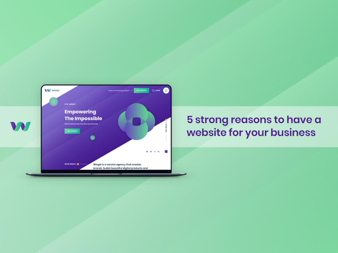 5 strong reasons to have a website for your business uiux ux logo design branding dailyui user interface design start-up icon illustration startup vector website design web design userinterface user experience uidesign business