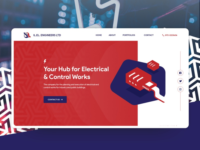 IL.EL. Engineering Ltd. - Website Redesign Concept