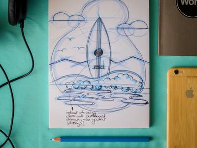 Surfboard sketch