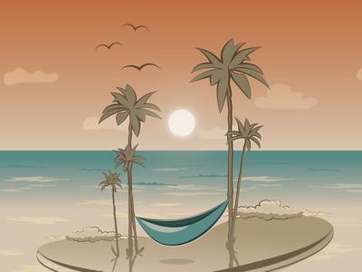Desert island illustration