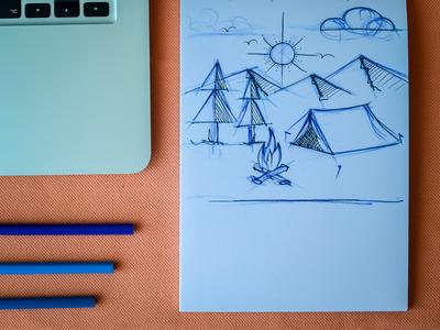 Camping sketch