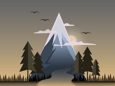 Mountain road illustration