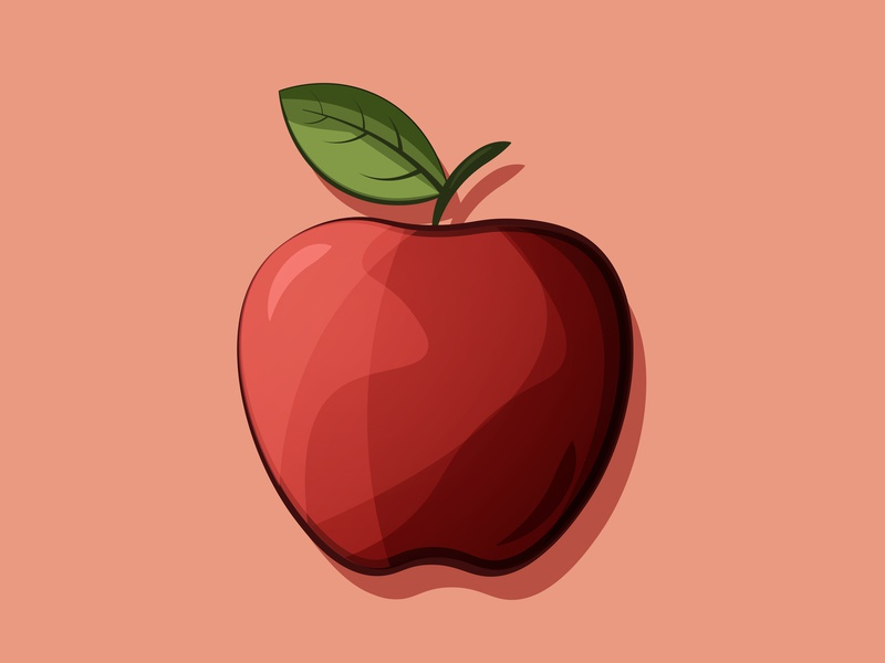 Apple illustration icon design iconography flat design adobe illustrator digitalart illustration gradient icon icon vector flat illustrator apple