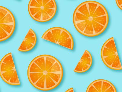 Oranges pattern illustration