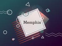 Memphis poster design (dark theme)