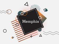 Memphis poster design (white theme)