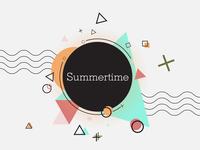 Summertime memphis design