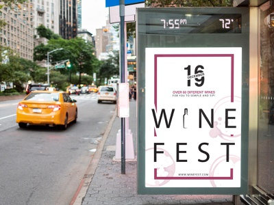 Wine poster festival fest minimalistic drink typo typography print graphic design wine