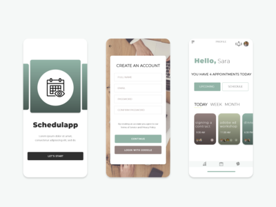 Schedulapp - mobile app design
