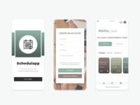 Schedulapp - mobile app design
