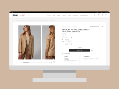 Redesign of HUGO BOSS product page