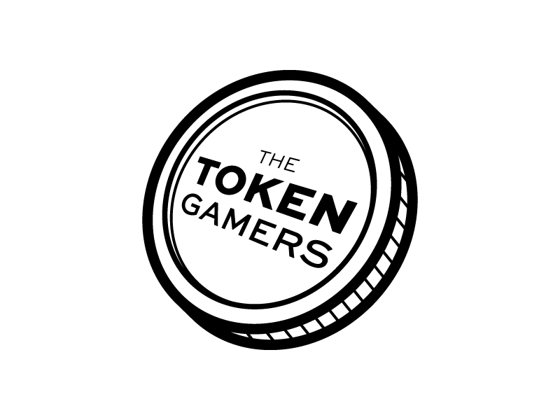 The Token Gamers Logo simple white black lets play video games gaming logo gamers token