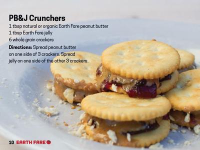 College Cookbook Earth Fare PB&J Crunchers