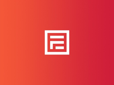 Falkir Brand red square gradient logo brand personal