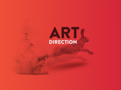 Falkir Concept red gradient direction art creative jump bunny