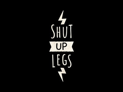 Shut Up Legs cycling quote typography jens voigt bike shut up legs