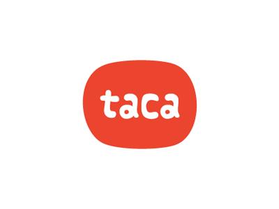 Taca logo chairty type minimal orange