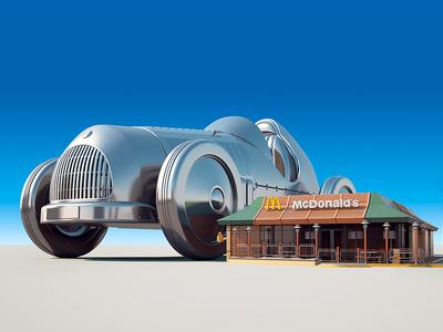 McDonald's - Monopoly  illustration advertising art direction monopoly mcdonalds cgi