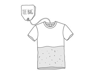 Teebag tea funny pun illustration
