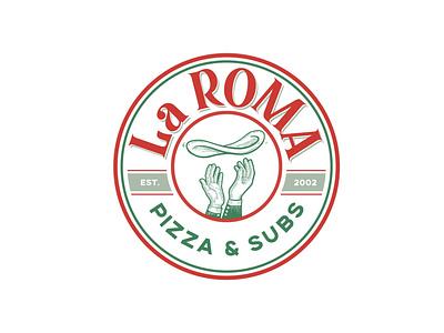 La Roma Pizza and Subs alternate logo. brand pizza pizza logo food logo belton graphic design ciaburri brand logo design logo branding